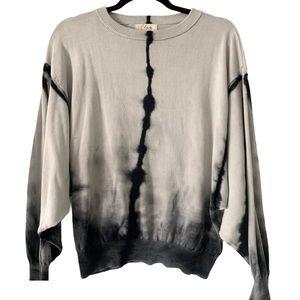 Elan Cotton Tie Dye Dolman Sleeve Sweater